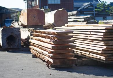 木材の選定、加工、乾燥