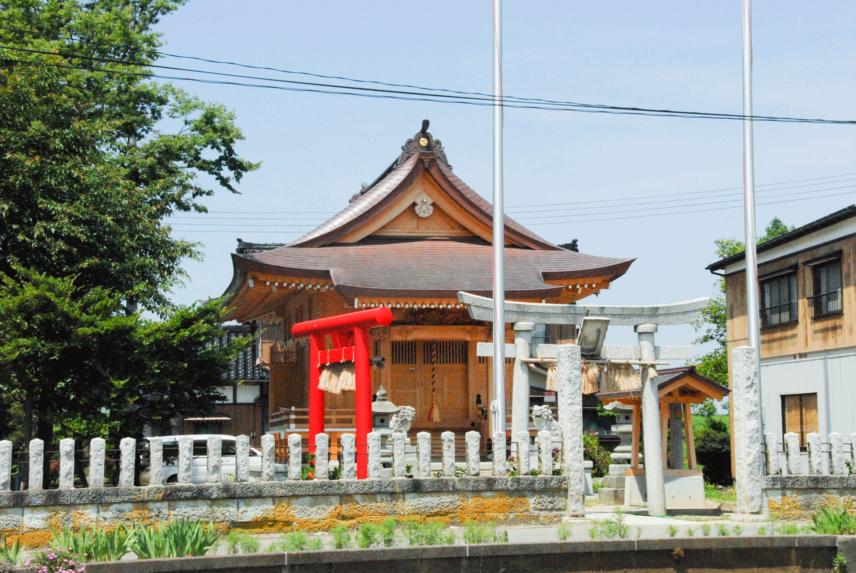野中才諏訪神社再建工事