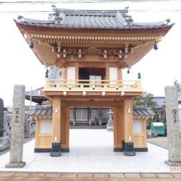 浄宮寺楼門建立工事