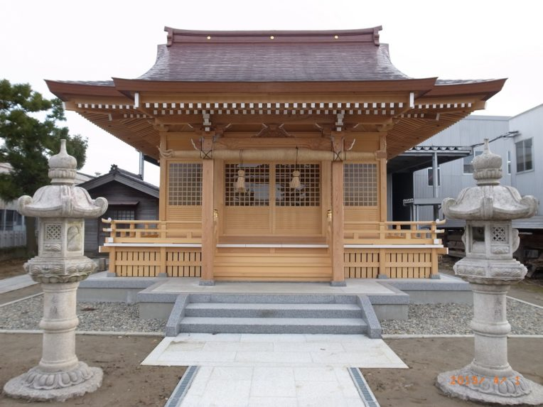 小池諏訪神社改築工事